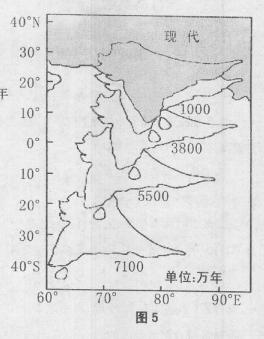 读某半岛(板块局部)向北俯冲示意图,回答15一17题.