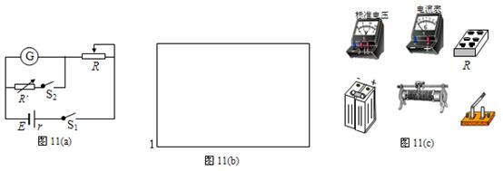 (3)把改装好的电压表与标准电压表进行核对,试在图11 (b)所示的方框画